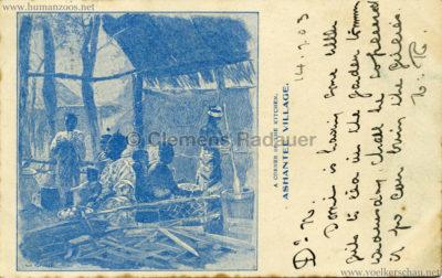 1903 Ashantee Village - A Corner of the Kitchen gel. 14.07.1903