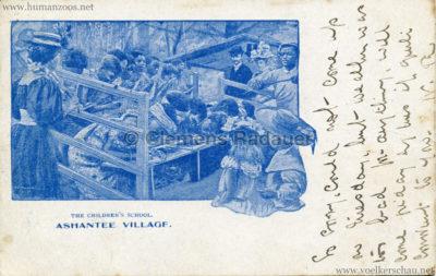 1903 Ashantee Village - The Children's School gel. 19.03.1903