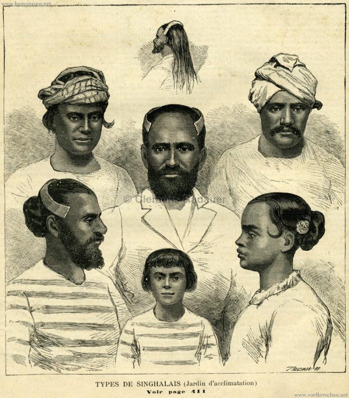 1883.07.01 La Famille No 195 - Types de Singhalais (Jardin d'acclimatation) S. 401
