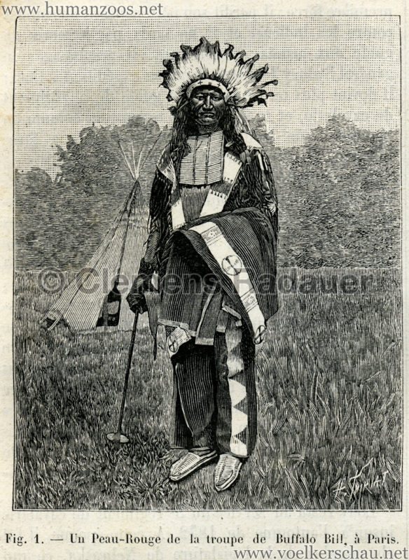 1889.07.06 La Nature No 840 - Les Peaux Rouges et les Americains de frontiere a Paris S. 88 Detail 1