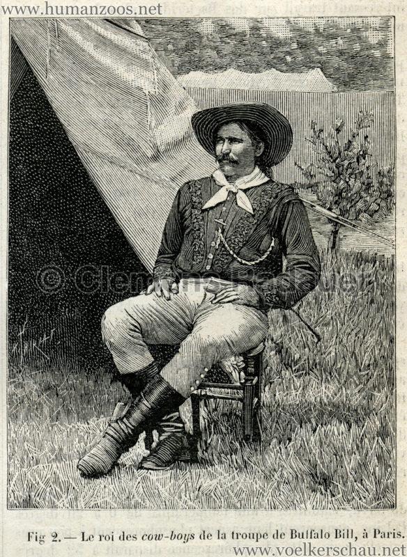 1889.07.06 La Nature No 840 - Les Peaux Rouges et les Americains de frontiere a Paris S. 88 Detail 2