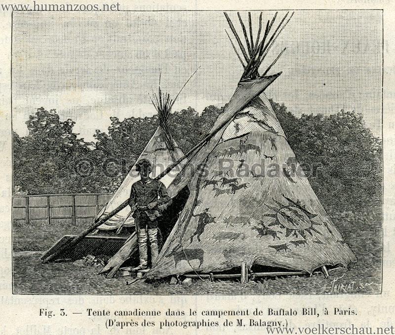 1889.07.06 La Nature No 840 - Les Peaux Rouges et les Americains de frontiere a Paris S. 88 Detail 3