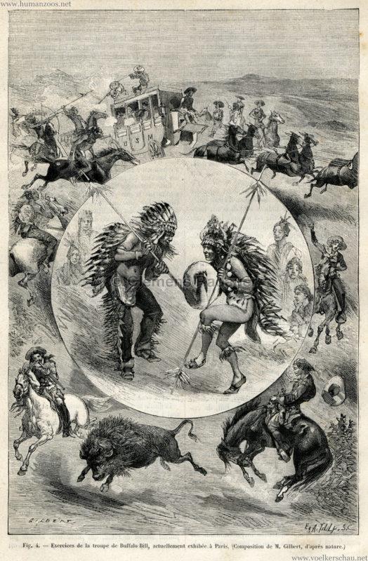 1889.07.06 La Nature No 840 - Les Peaux Rouges et les Americains de frontiere a Paris S. 89 Detail