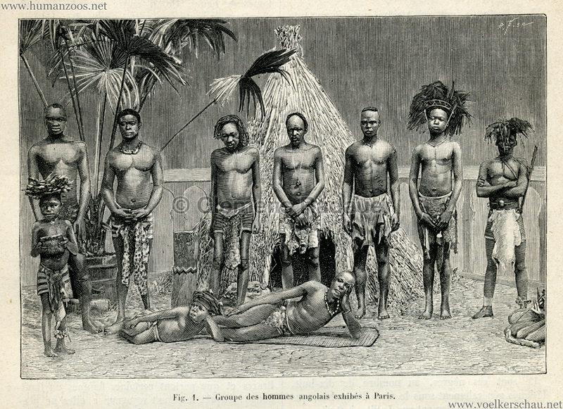 1889.07.27 La Nature no 843 - Les Angolais a Paris S. 132 Detail 1