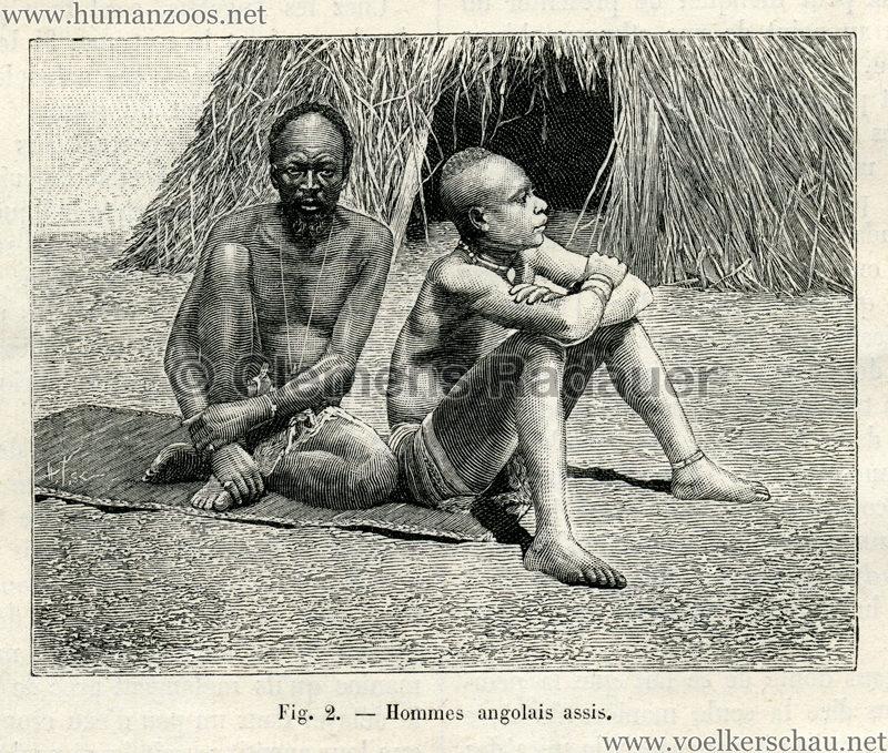 1889.07.27 La Nature no 843 - Les Angolais a Paris S. 132 Detail 2