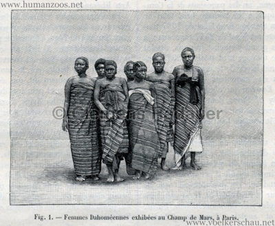 1893.05.13 La Nature No 1041 - Les Dahomeens au Champs de Mars de Paris S. 372 Detail 1