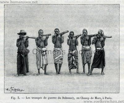 1893.05.13 La Nature No 1041 - Les Dahomeens au Champs de Mars de Paris S. 373 Detail 1