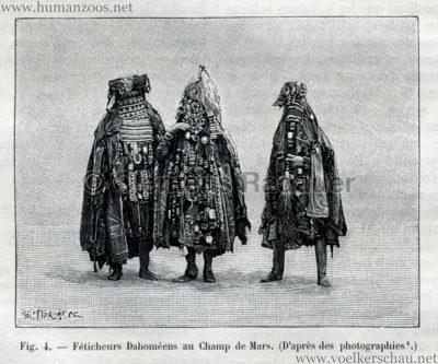 1893.05.13 La Nature No 1041 - Les Dahomeens au Champs de Mars de Paris S. 373 Detail 2