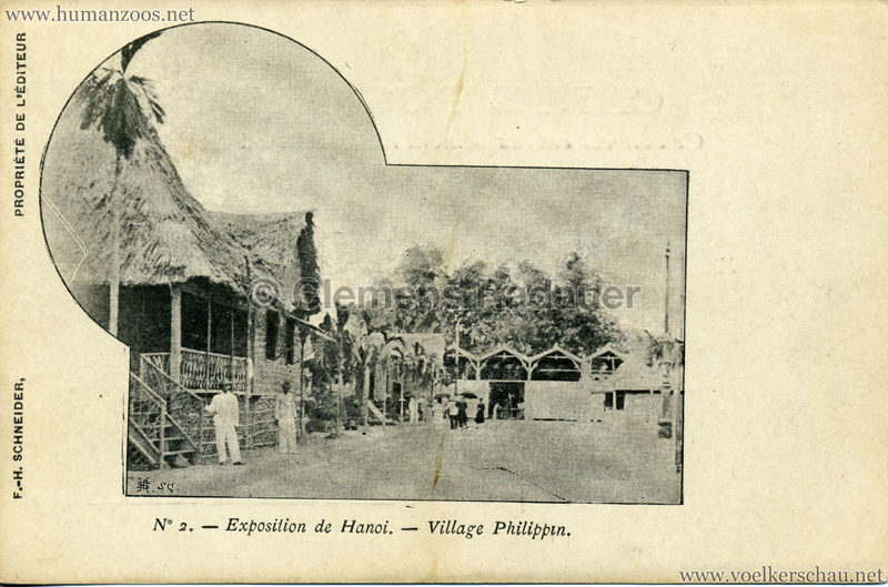 1902 Exposition de Hanoi - Village Philippin