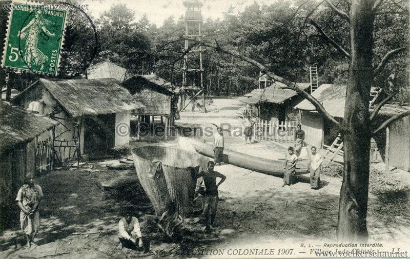 1907 Exposition Coloniale Paris, Bois de Vincennes - 15. Village Indo-Chinois
