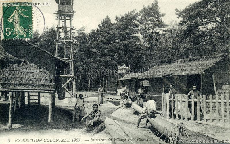 1907 Exposition Coloniale Paris, Bois de Vincennes - 8. Interrieur du Village Indo-Chinois