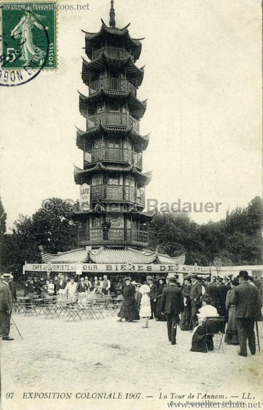 1907 Exposition Coloniale Paris, Bois de Vincennes - 97. Tour de l'Annam