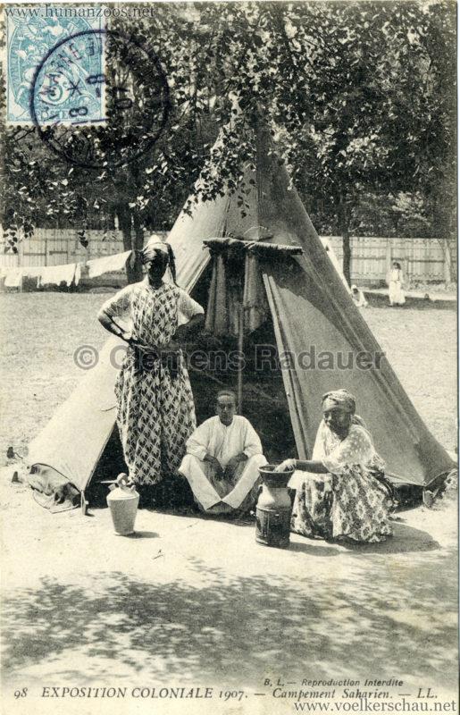 1907 Exposition Coloniale Paris, Bois de Vincennes - 98. Campement Saharien