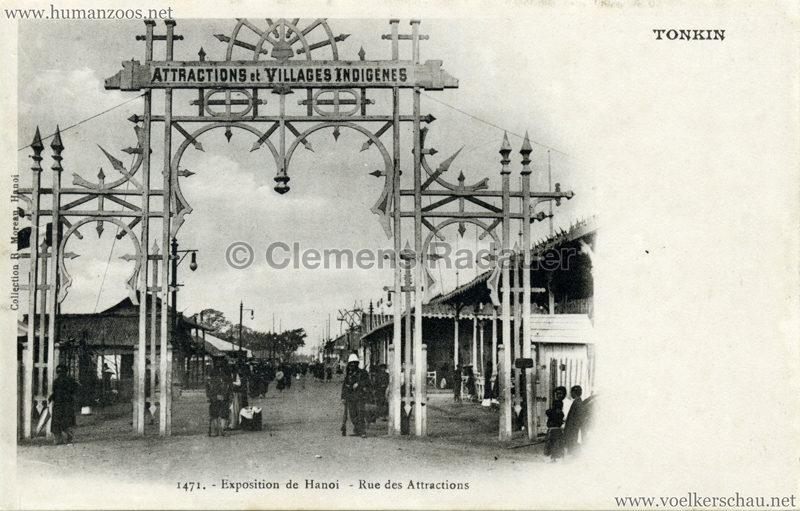 1902 Exposition de Hanoi - Rue des Attractions