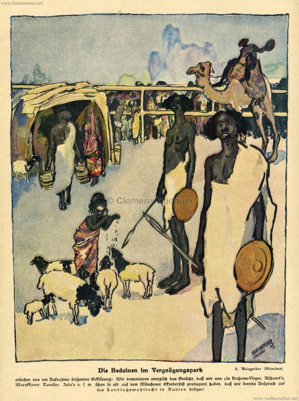 1908 Jugend Nr 28 - Die Beduinen im Vergnügungspark