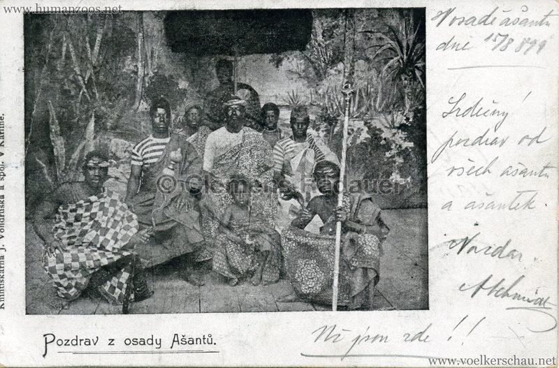 1899 Pozdrav z osady Asantu