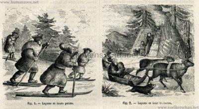 1878.12.07 La Nature No 288 - Les Lapons au Jardin d'Acclimatation Detail 2