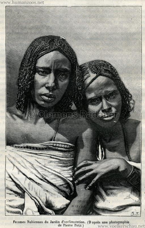 1879.08.09 La Nature No 323 - Les Nubiens du Jardin d'Acclimatation Detail
