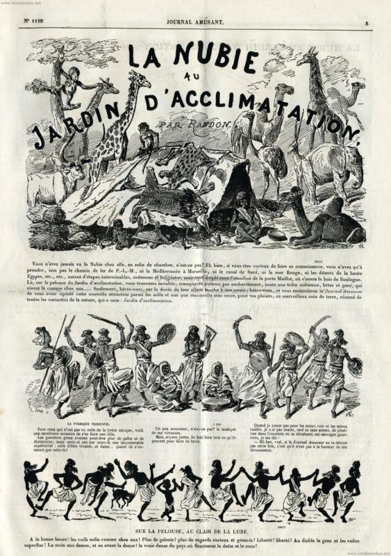 1879 jardin zoologique d acclimatation nubiens for Au jardin d acclimatation