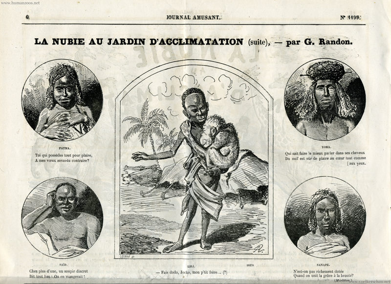 1879.08.23 Journal Amusant - La Nubie au Jardin d'Acclimatation S.6