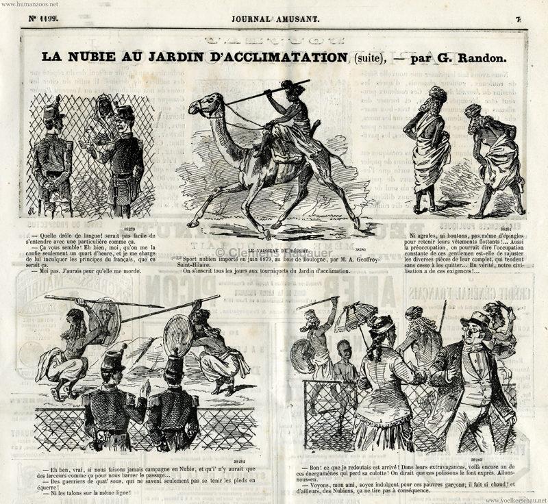 1879.08.23 Journal Amusant - La Nubie au Jardin d'Acclimatation S.7