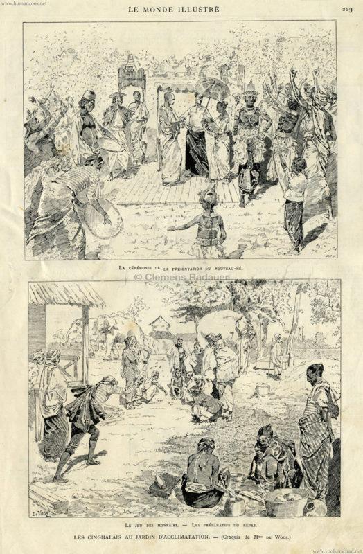 1886.10.09 Le Monde Illustre - Les Cinghalais au Jardin d'Acclimatation