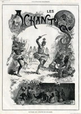 1887 L'Illustration Europeenne - Souvenir des Achantis en Belgique