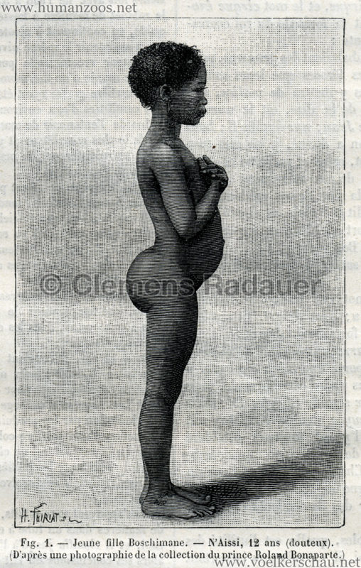 1887.01.22 La Nature No 712 - Les Boshimans a Paris Detail 1