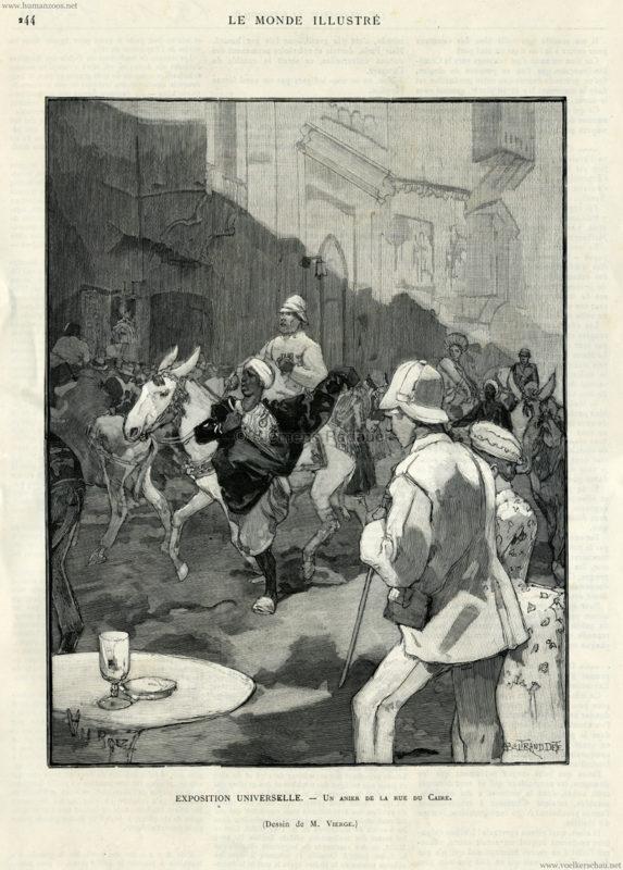 1889.10.19 Le Monde Illustre - Exposition Universelle - Un Anier de la Rue du Caire