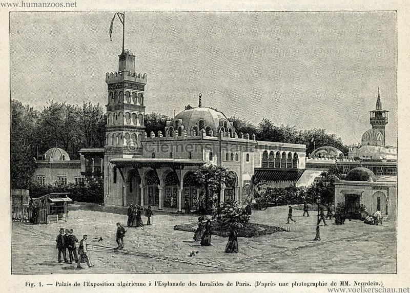 1889.11.09 La Nature No 858 - Le Palais Algerien a l'Exposition Universelle de 1889 Detail 1