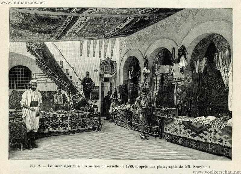 1889.11.09 La Nature No 858 - Le Palais Algerien a l'Exposition Universelle de 1889 Detail 2