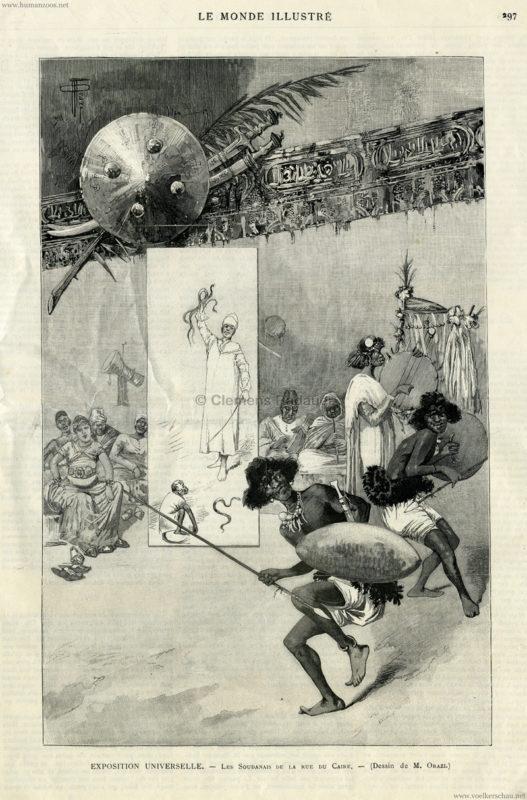 1889.11.09 Le Monde Illustre - Exposition Universelle - Les Soudanais