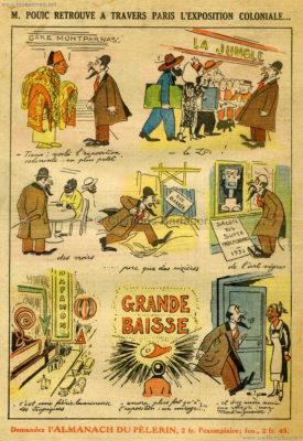 1931.12.02 Le Pelerin - M. Pouic retrouve a travers Paris l'Exposition Coloniale