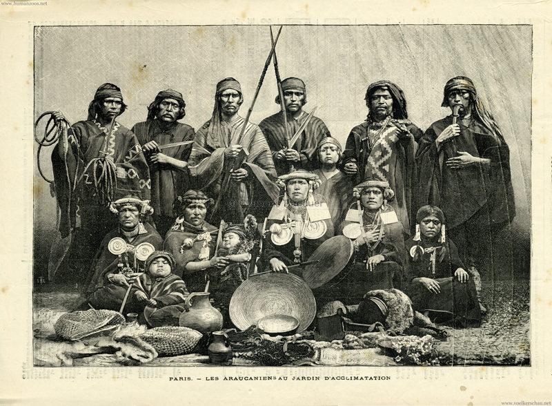 1883 Paris - Les Araucaniens au Jardin d'Acclimatation
