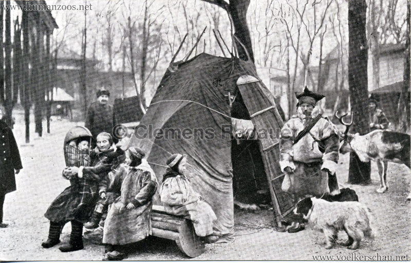 1913 Zoo Budapest lappföldiek (Lappländer)