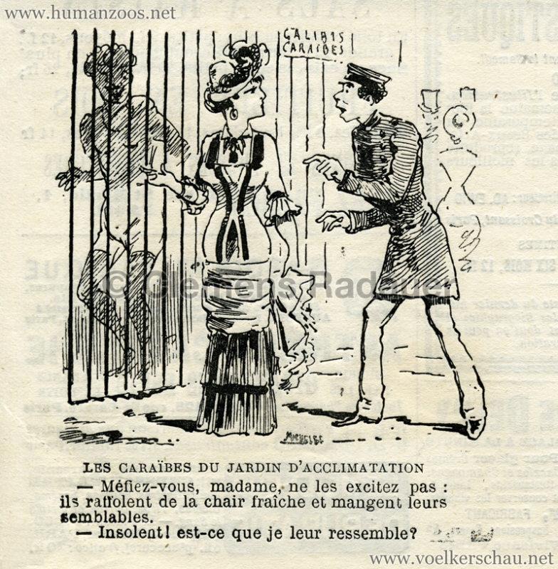 1882 - Les Caraibes du Jardin d'Acclimatation Karikatur