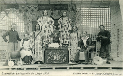 1905 Exposition de Liège - Extrême Orient - La Troupe Chinoise