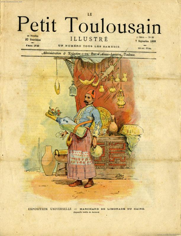 1889.09.07 Le Petit Toulsaine - Exposition Universelle - Marchand de Limonade du Caire