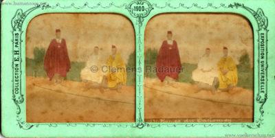 1900 Exposition Universelle de Paris - Types du Dahomey STEREO kombi