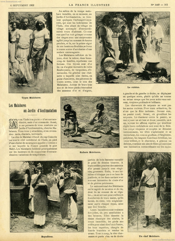 1902.09.06 La France Illustree - Les Malabares au Jardin d'Acclimatation 1