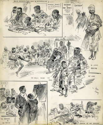 1903 Ashanti Village ILLUSTRATION (William H. Pike-Oliver Paque)