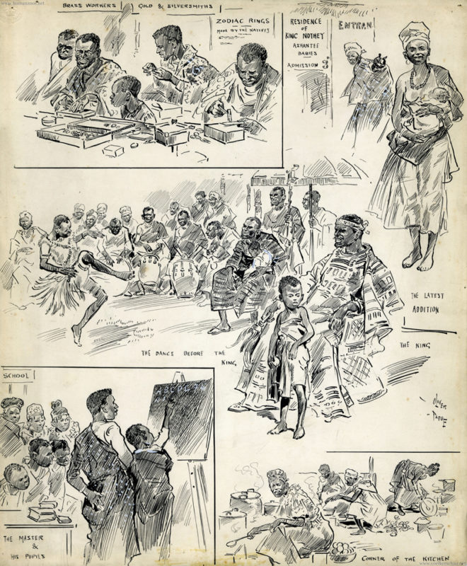1903 Ashanti Village ILLUSTRATION (William H. Pike-Oliver Paque)