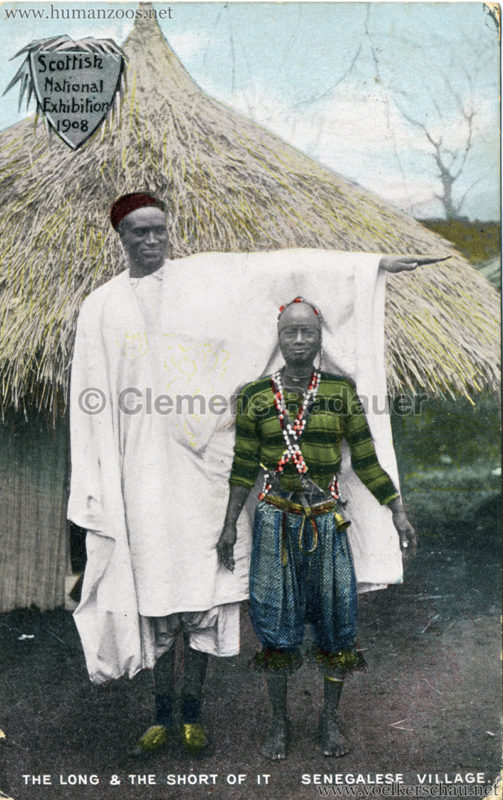 1908 Scottish National Exhibition - Senegalese Village - The Long and the Short of it colour