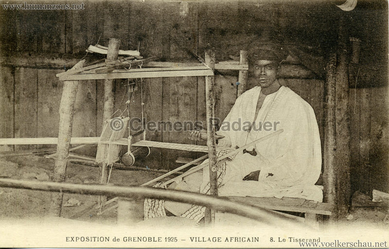 1925 Exposition Internationale Grenoble - Le Village Africain - 8. Le Tisserand
