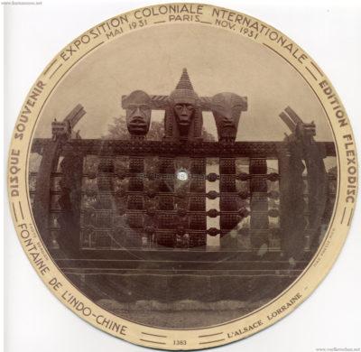 1931 Exposition Coloniale Flexodisc 1383