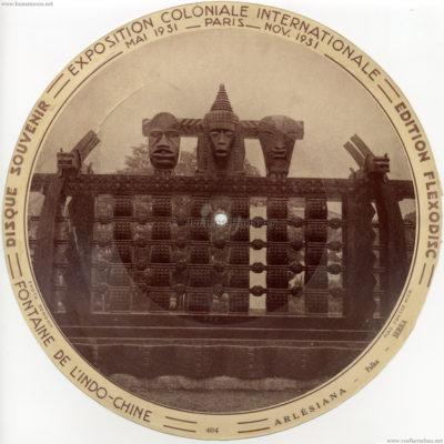 1931 Exposition Coloniale Flexodisc 404