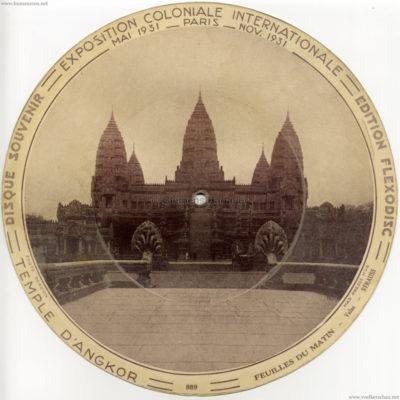 1931 Exposition Coloniale Flexodisc 889