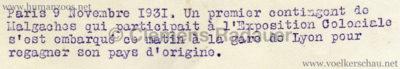 1931 Exposition Coloniale Internationale Paris - Malagaches Bahnhof PRESSEFOTO RS