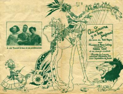 1934 Exposition de Jouets Chef Nyambi - Noten 1