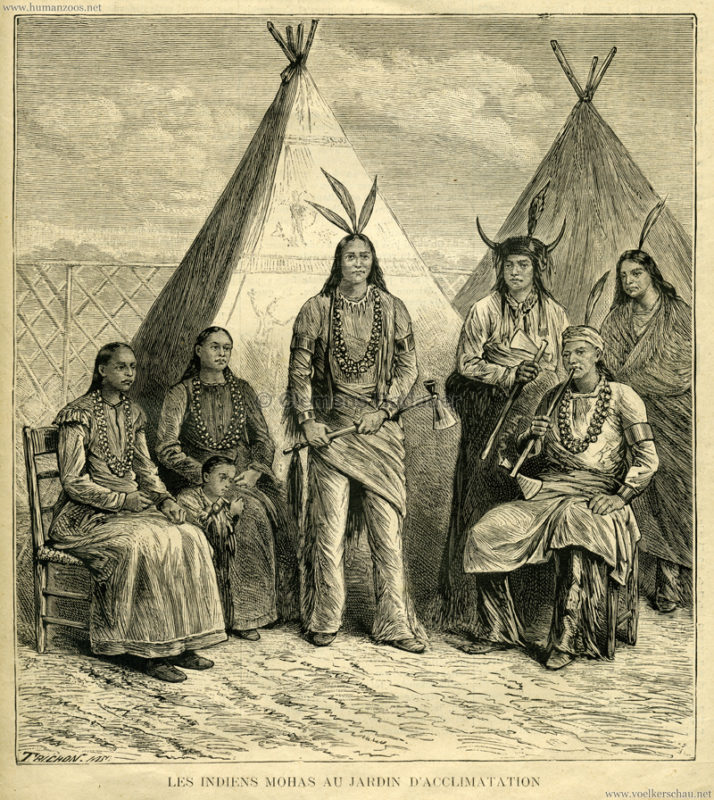 1883.10.28 La Famille - Les Indiens Mohas au Jardin d'Acclimatation 1